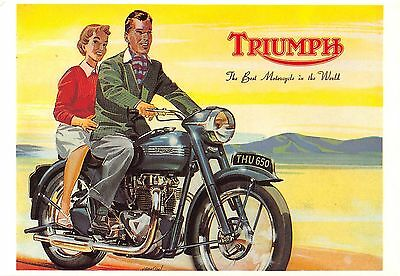 POSTCARD  ADVERTSING  MOTOR  CYCLES  5 CARDS  ( L/S)  Various  MAKES