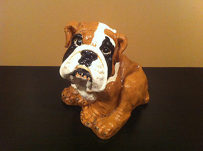 Hand Painted Ceramic Heavy English Bulldog Figurine