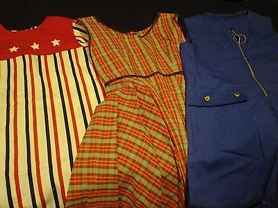 VINTAGE 1950'S GIRL'S Dresses Lot of 3 Size 10 12