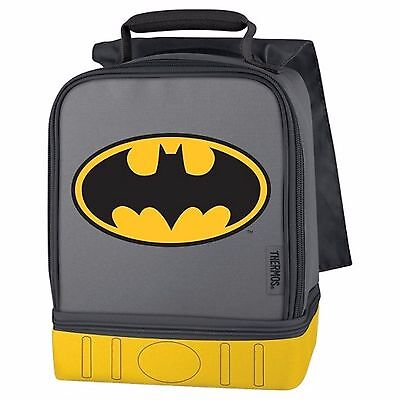 Batman With Cape Dual Compartment Dome Lunchbox Lunch Bag-Brand New!