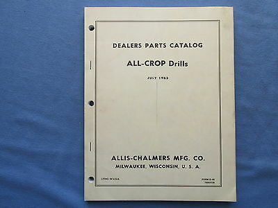 Original 1964 DEALER Parts Catalog MANUAL for Allis Chalmers All Crop Drills