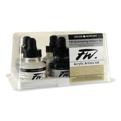 Fw Acrylic Artists Ink Shimmering Color Set/6
