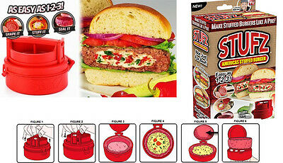 Stufz Americas Stuffed Burger Press & Burger Maker for Building your own Burgers