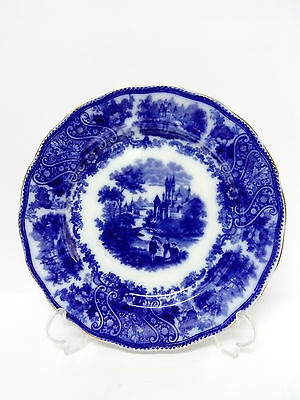 Antiguo Plato Porcelana Flujo Azul NONPAREIL BURGESS & LEIGH c.1906 Middleport