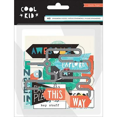 Cool Kid Diecuts Crate Paper Ephemera Pack Cardstock & Acetate Die Cuts Boy