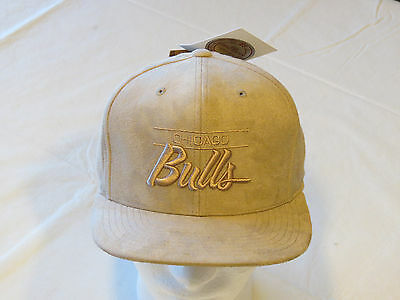 81e12989690 Men s Mitchell   Ness Micro Suede Snapback Hat Cap Chicago Bulls bsktbl ...