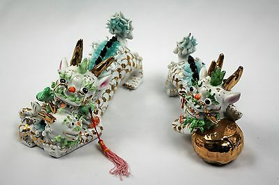 Pair of Chinese Feng Shui Qilin Imperial Dragons