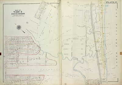 STATEN ISLAND COPY ATLAS MAP 1917 RICHMOND NY CAMP WARREN /& MOORES STATIONS