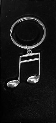 New In Box Keyring Metal Semiquaver Music Gift Xmas Musician Musical