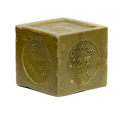 FRENCH SOAP ,SAVON DE MARSEILLE 600g CUBE,NATURAL AND OLIVE OIL, FLAT POSTAGE