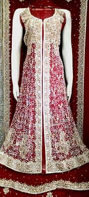 Designer Bridal Dress Wedding Long Shirt Lehnga Indian Pakistani On Sale