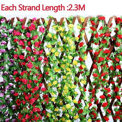 7.5ft Wedding Artificial Flowers Garland Plants Foliage Decoration Ivy Leaf UK