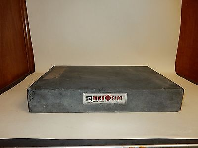"""12"""" x 18"""" x 3"""" Granite Surface Plate Collins Micro Flat"""