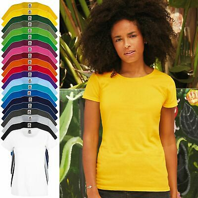 Damen T-Shirt Fruit of the Loom XS-2XL Baumwolle Lady-Fit Original Tee 61-420-0