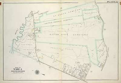 1917 Richmond Staten Island Ny Ocean View Cemetery Center St-Giffords Atlas Map