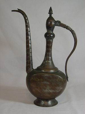 Arabic Islamic Middle Eastern Dallah Tall Coffee Pot Ewer Copper Antique 15""