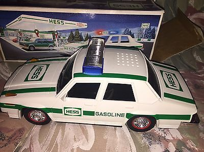 HESS Patrol Car Police Gasoline Green & White Vintage 1993 Collectible free ship