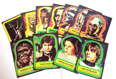 Original 1977 Star Wars Series 1 TOPPS Trading Card Sticker Set of 11 #1-11