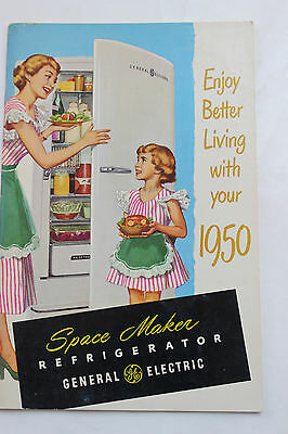 Vtg General Electric GE Refrigerator 1950's Manual Book Recipes Excellent Space