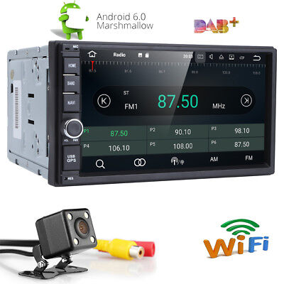 """Android 6.0 7"""" Double Din Car Radio Stereo W/O DVD Player GPS Nav OBD BT 3G WiFi"""