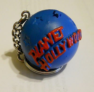 Planet Hollywood - Round 3D Earth blue red Keychain