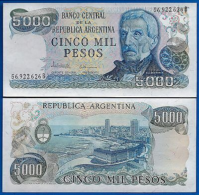 Argentina P-305 5000 Pesos Year ND 1977-83 Uncirculated FREE SHIPPING