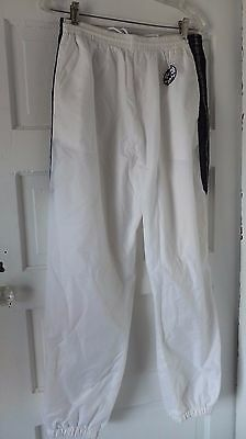 Vintage 90's Converse Chuck Taylor Track Pants Mesh Lined Zip Ankle White Large