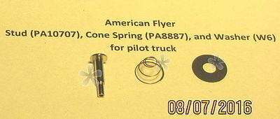 American Flyer Stud, Spring, Washer for Pilot Trucks (Repro)(NEW)