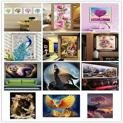 DIY 5D Diamond Embroidery Painting Flower Animal Cross Stitch Home Decor Decal