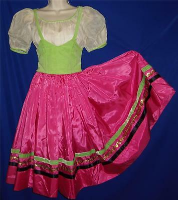 "Vintage Hand Made 1940's Bavarian Costume Dress S Bust 30"" waist 24"""