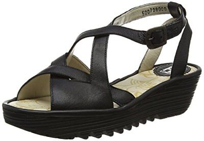 TG 41 EU Fly London P500728002 Sandali con Zeppa Donna Nero Black L7q
