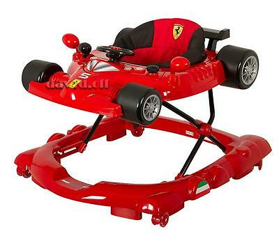 Br New Sturdy Scuderia Ferrari Car Baby Walker with Vibrating Acvity Play Centre