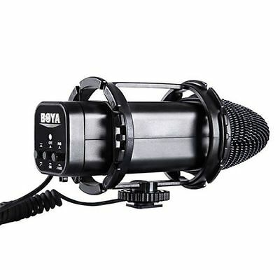 BOYA BY-V02 External Stereo Condenser Video Microphone W/ Windshield for DSLR