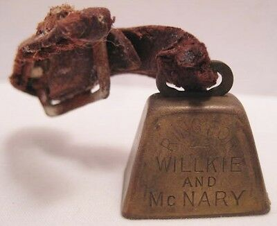 Old 1940 Brass Mini Bell Political Presidential Campaign Ring for Willkie McNary