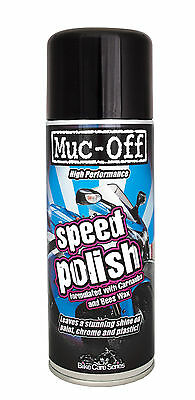 Muc-Off Speed Motorbike Motorcycle Detailing Polish Spray Micro Fibre