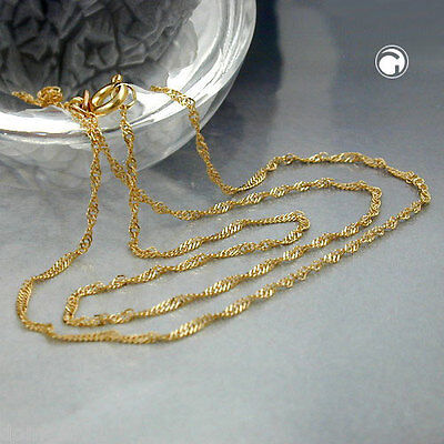 NEW 9K SOLID GOLD Fine Singapore Chain Necklace, 1.4mm, 45cm (518004-45)