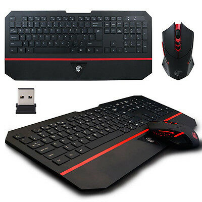 E780 2.4GHz Ultra-slim Ergonomic Silent Gaming Wireless Combo Keyboard and Mouse