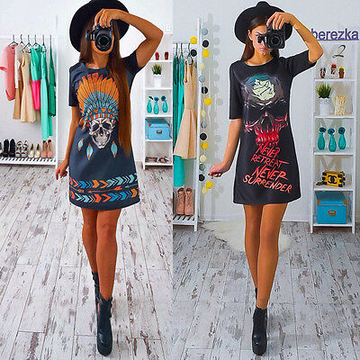 Fashion Women Summer Sleeveless Floral Party Evening Cocktail Short Mini Dress