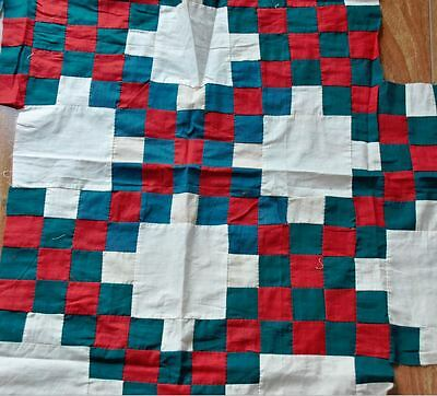 (35) x 1880-1910 IRISH CHAIN ANTIQUE VINTAGE QUILT BLOCKS – INCOMPLETE PROJECT!