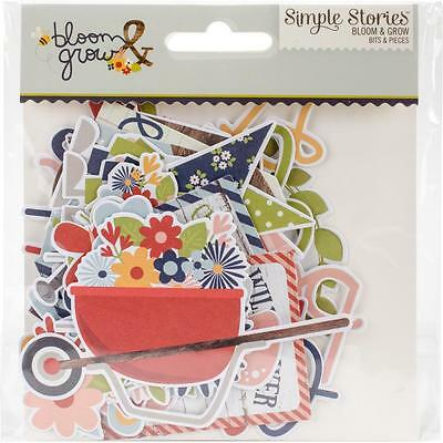 Bloom & Grow Diecuts Simple Stories Bits & Pieces Die Cuts Ephemera