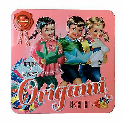 Origami Set Kit Wu and Wu Gorgeous Kitsch Tin Box Gift Vintage Retro Style Craft