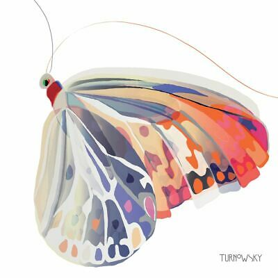 "VIBRANT BUTTERFLY BROWN WHITE 3-PLY 20 PAPER NAPKINS SERVIETTES 13""x13""–33X33CM"