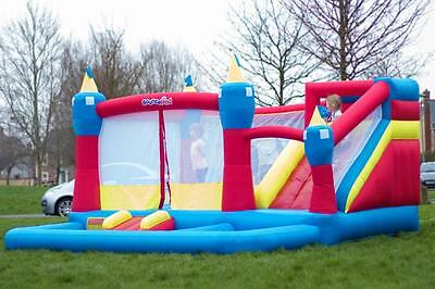Bounceland Magic Kingdom 14ft Inflatable Bouncy Castle with Airflow Fan