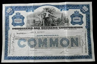 PRODUCERS AND REFINERS CORPORATION Stock Certificate   MUST SEE
