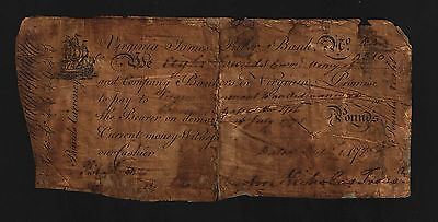 Virginia Colonial Currency - September 1, 1775 -8 Pounds