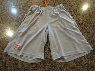 Under Armour Loose gray fitness shorts YLG-LARGE Youth boys girls L Athletic