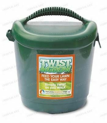 Hand Held Grass Seed Spreader Garden Lawn Fertiliser Shaker Twist & Grow Feed