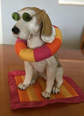 """12"""" Tall Beagle-Dressable Dog-Welcome Sign- with a dozen costumes"""