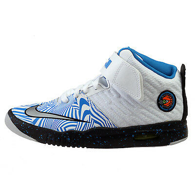 huge discount 07abd 4b86d Nike Air Akronite Big Kids 819832-101 White Blue Lebron Shoes Youth Size 6.5