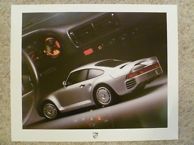 1986 Porsche 959 (Gruppe B) Showroom Advertising Sales Poster RARE Awesome L@@K